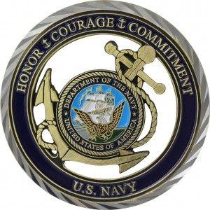 U S Navy Core Values Coin