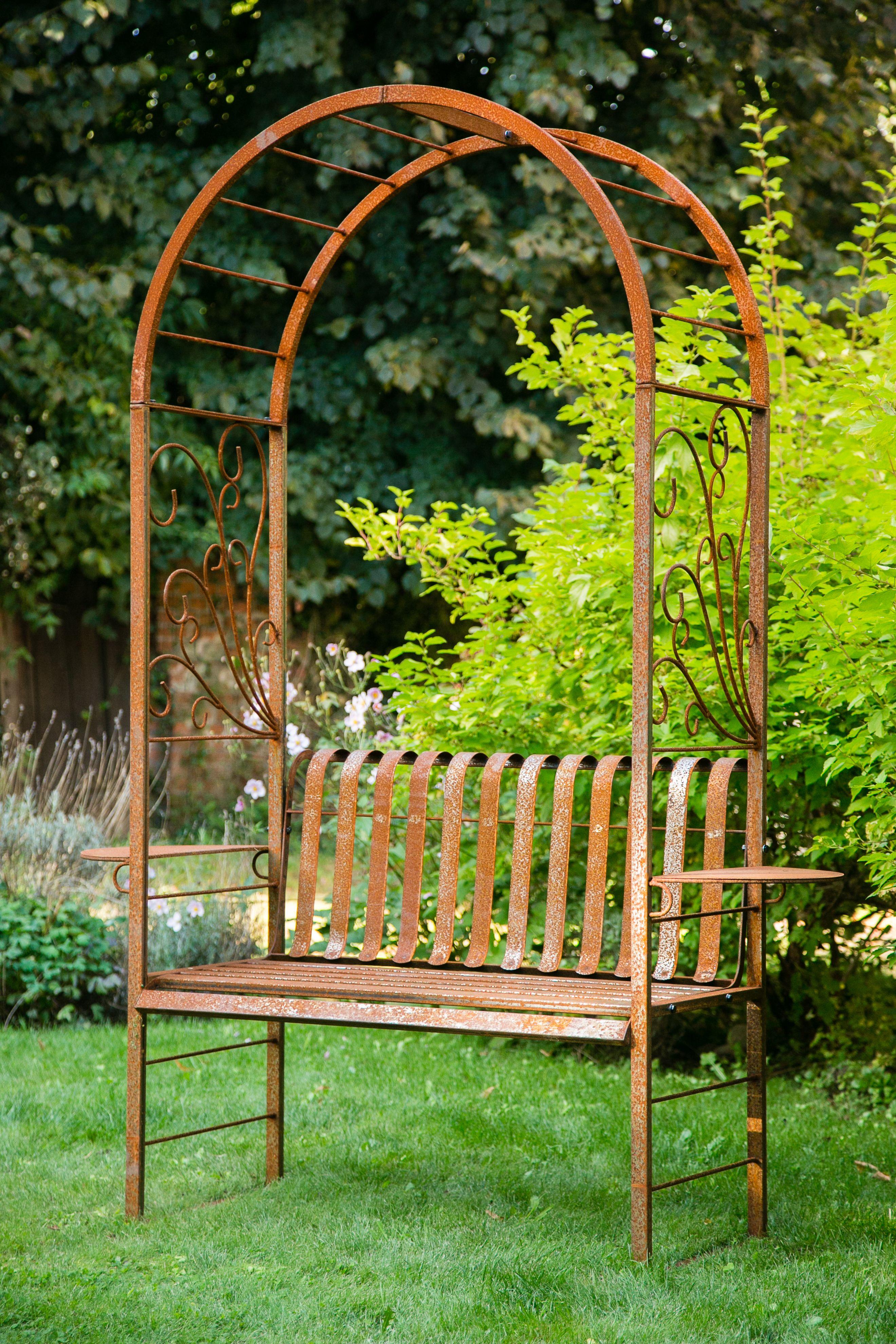Kuheiga Com Ihr Online Shop Fur Gartenzubehor Wohnaccessoires Rosenbogen Rosenbogen Mit Bank Garten