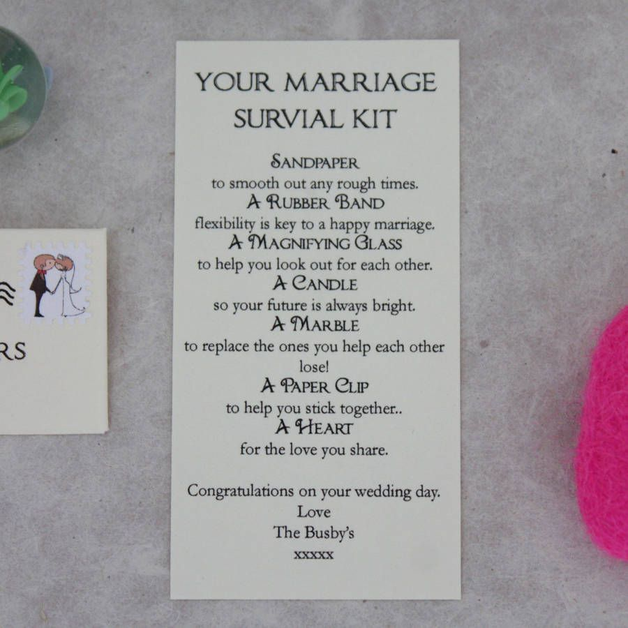 Personalised Marriage Survival Wedding Gift   Gifts ...