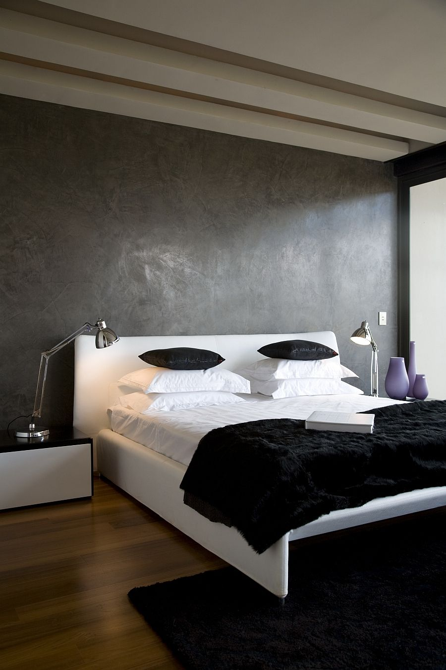 sharp groovy white bedroom inspiration furniture | House Serengeti: Sharp Angles, Contemporary Architecture ...