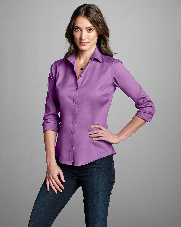 Women's Wrinklefree Longsleeve Shirt Solid Eddie
