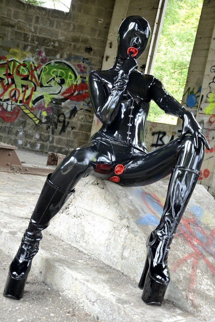 Living with a latex catsuit
