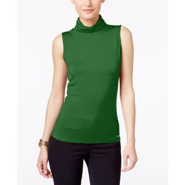 c08b9dd2718dc2 Michael Michael Kors Sleeveless Turtleneck Top ( 48) ❤ liked on Polyvore  featuring tops