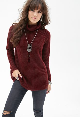 Ribbed Turtleneck Sweater | FOREVER21 - 2000067099