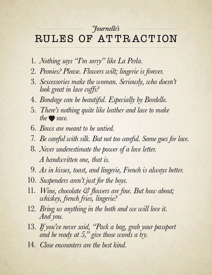 誘惑のルール