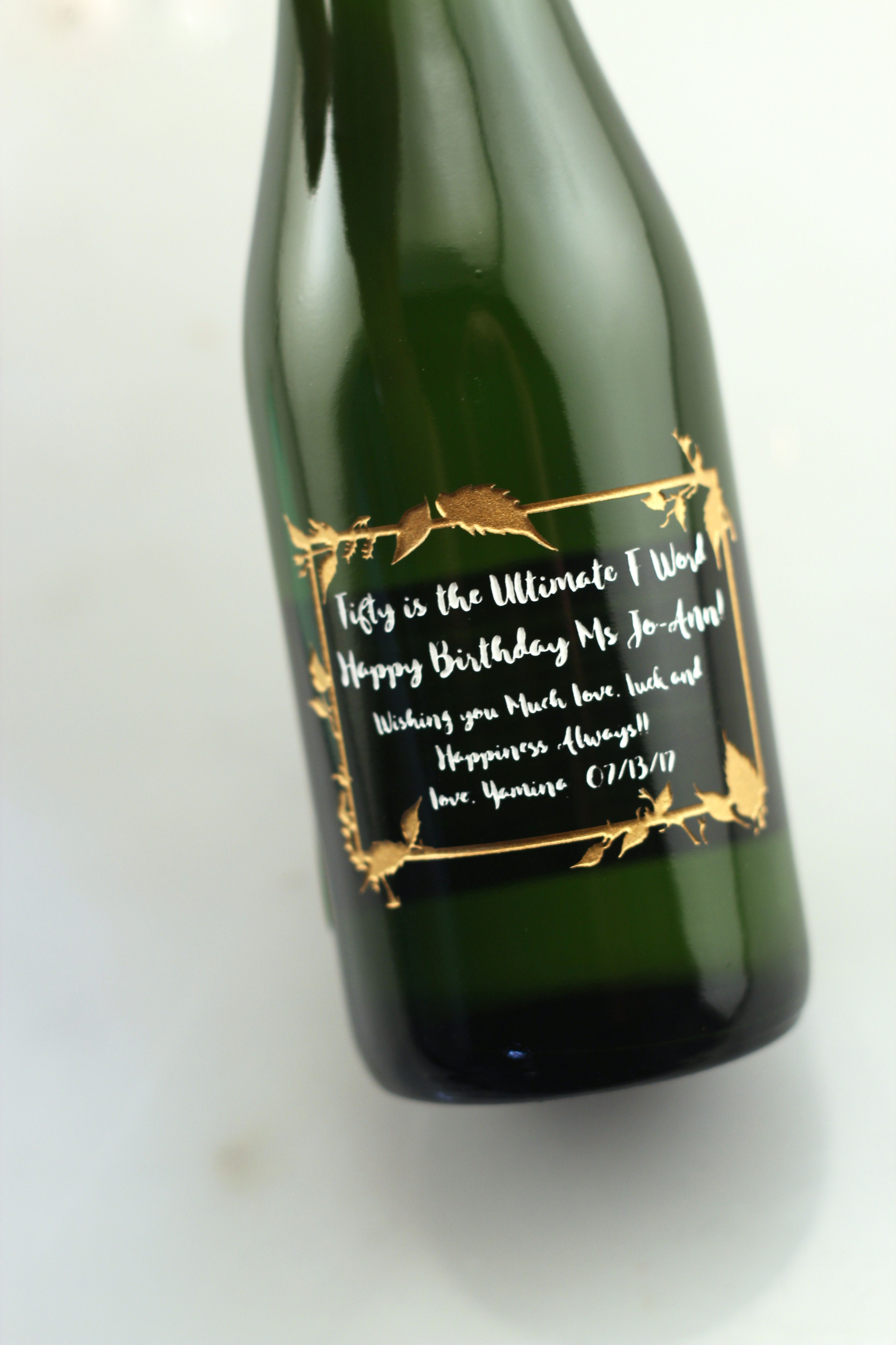 Pin by Etching Expressions on Custom Mini Champagne