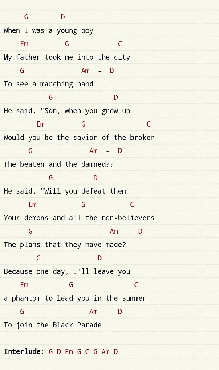 Father And Son Chords   FATHER