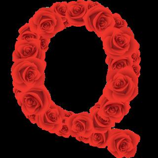 Red Roses Alphabet Letter Q Numero Para Imprimir Letras De Flores Alfabetos Elegantes