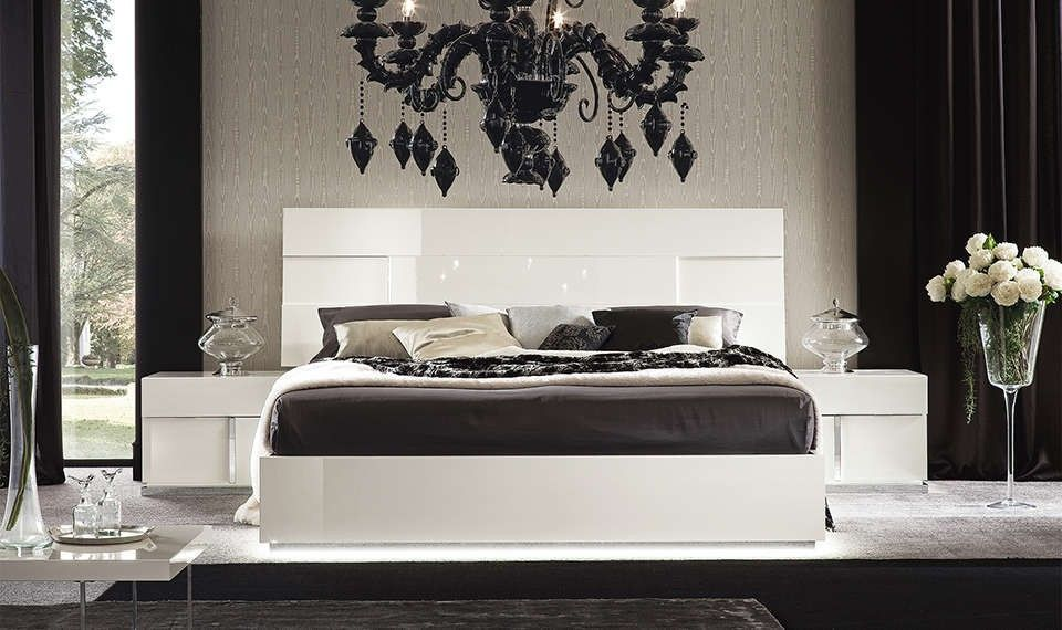Canova Bed in White High Gloss by Alf Da Fre | Furniture by Alf Da ...
