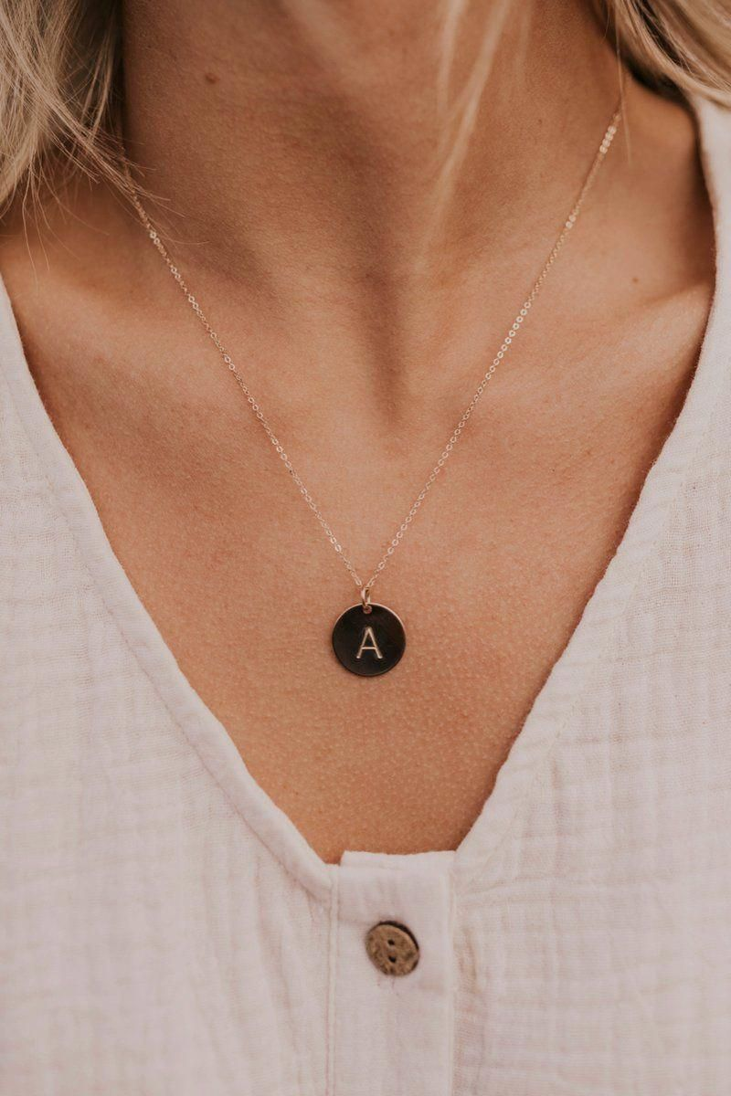 Photo of Classic Coin Initial Necklace