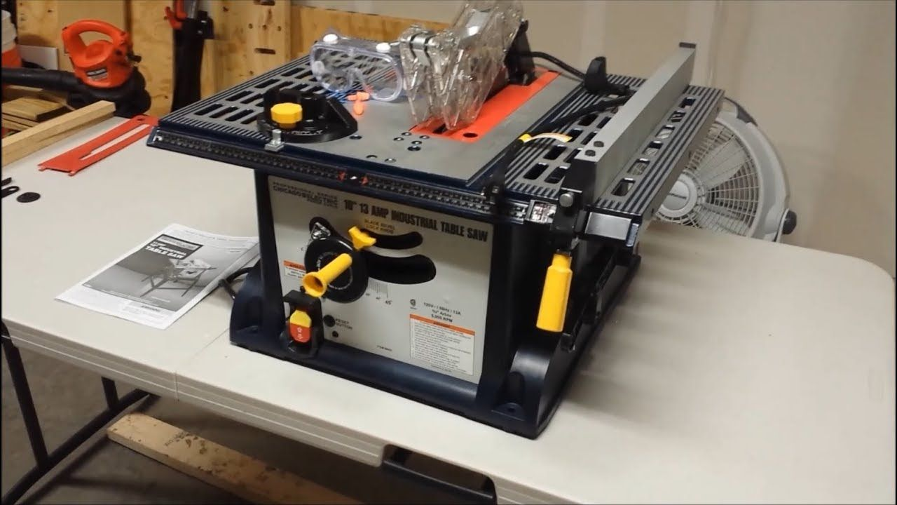 How To Set Up Your Harbor Freight Table Saw Youtube In 2020