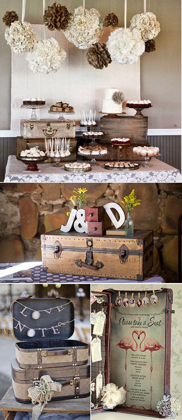 Decoraci n con maletas vintage ideas originales para - Decoracion de bodas originales ...