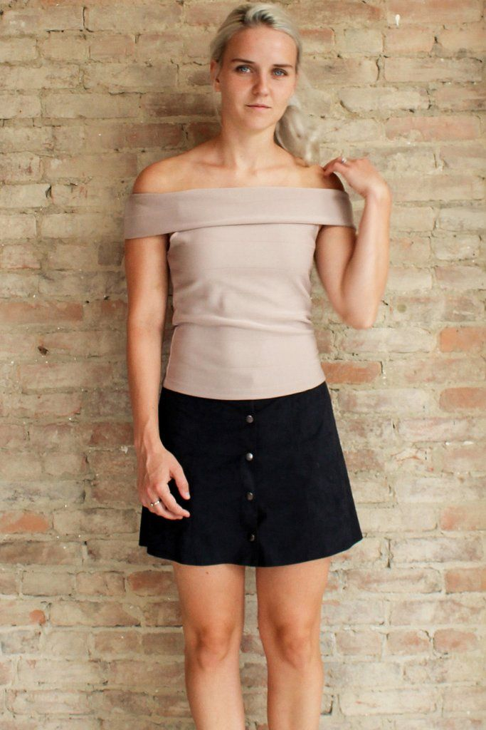 Selene Off the Shoulder Top - Nude #affordable-fashion #fashion-top #gold