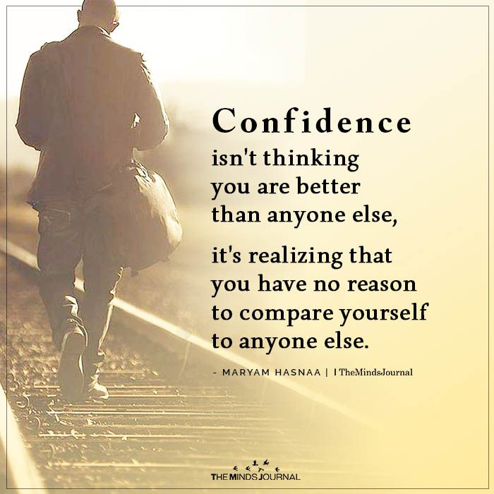Confidence isn't Thinking You Are Better