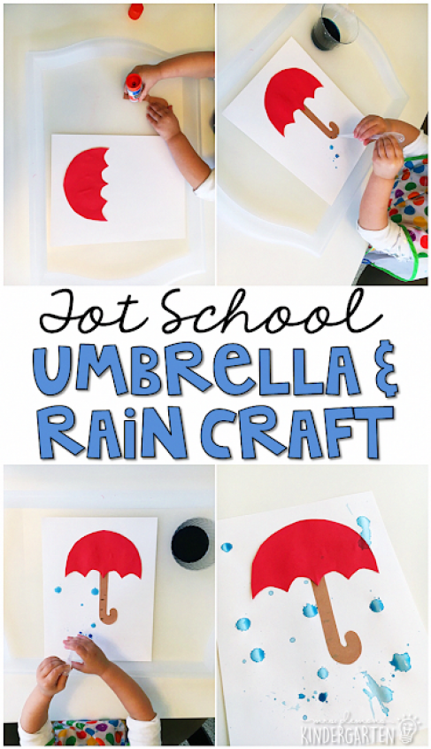 Use eye droppers to make rain for this cute umbrella craft. Great for fine motor practice with a weather theme. Great for tot school preschool or even kindergarten! #preschoolcrafts #preschool #preschool #weather #cuteumbrellas Use eye droppers to make rain for this cute umbrella craft. Great for fine motor practice with a weather theme. Great for tot school preschool or even kindergarten! #preschoolcrafts #preschool #preschool #weather #cuteumbrellas