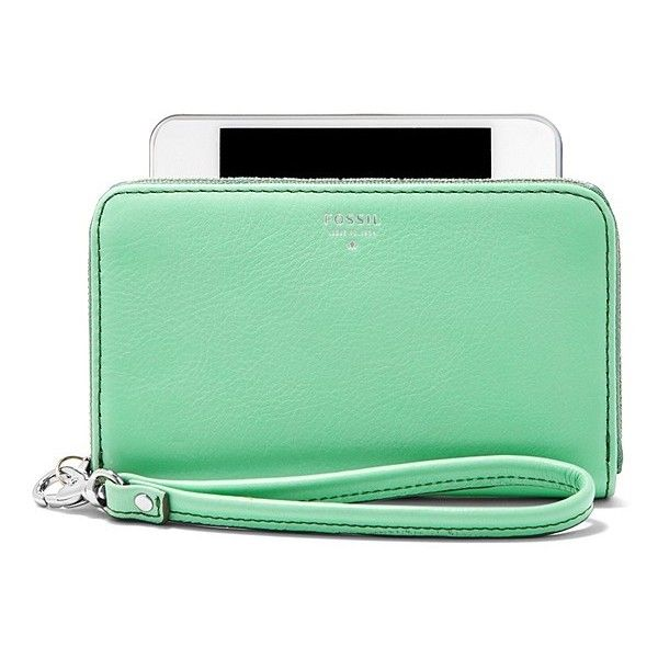 Fossil Sydney Zip Phone Wallet ($40) found on Polyvore