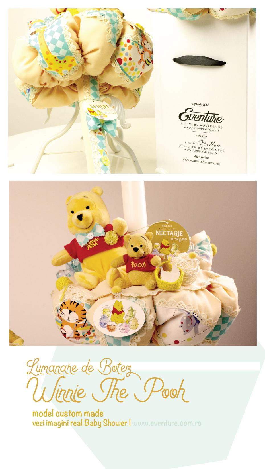 Lumanare Botez Winnie The Pooh Disney Shop Online Grafica