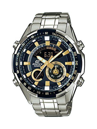 47178964a972 Casio Edifice - Reloj Hombre Analógico Digital con Correa de Acero  Inoxidable - ERA-600D-1A9VUEF  Amazon.es  Relojes