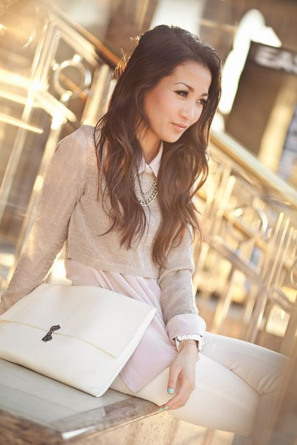 so cute. love the layering. relaxed and polished at the same time.