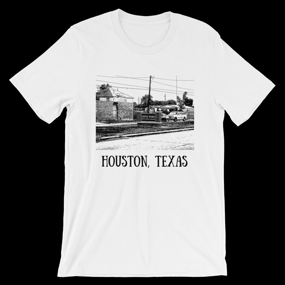 Historic And Iconic Fifth Ward Design Houston Tshirt