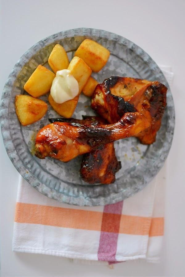 Hacemos Este Sabroso Pollo Asado Al Pimentã N Pollo Comida étnica Asado