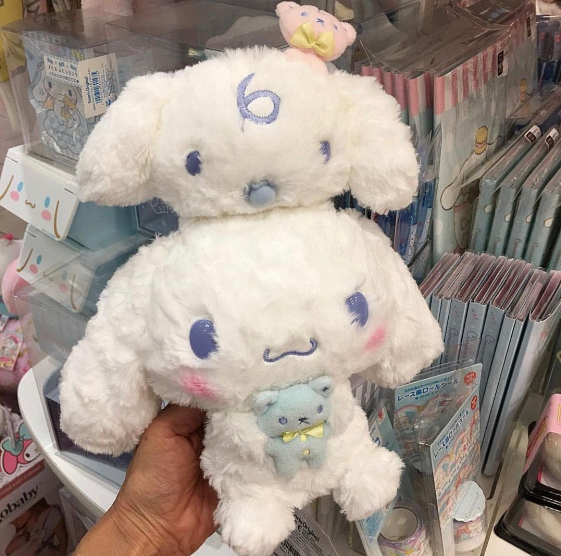 Cinnamoroll & Milk plushes (^з^)☆ soft cuddly and