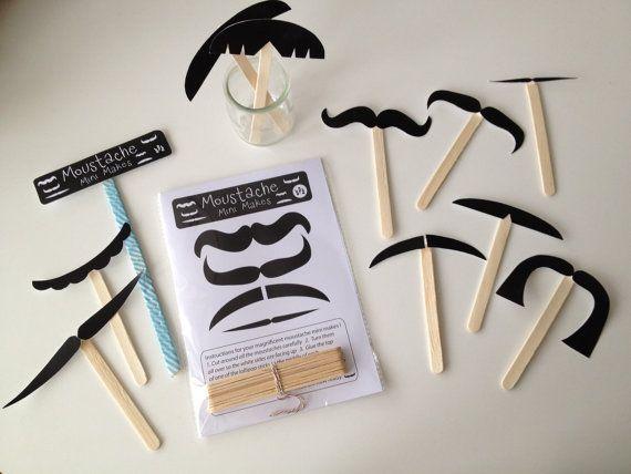 A MOUSTACHE mini make kit A fun way to encourage by halfpinthome, £4.00