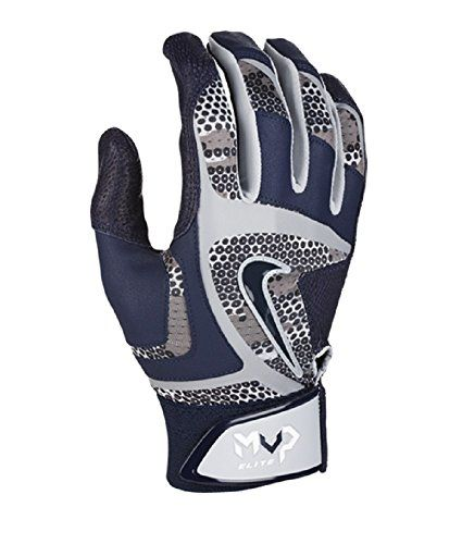 Nike MVP Elite Adult Baseball Batting Glove GB0401 Wolf Grey/University  Red/White Large
