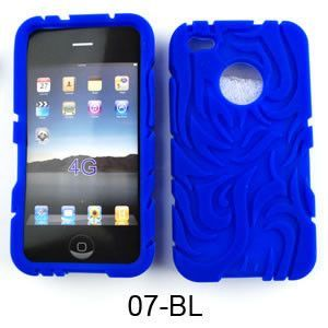 Unlimited Cellular Deluxe Silicone Texture Skin Case for Apple iPhone 4/4S (Blue)