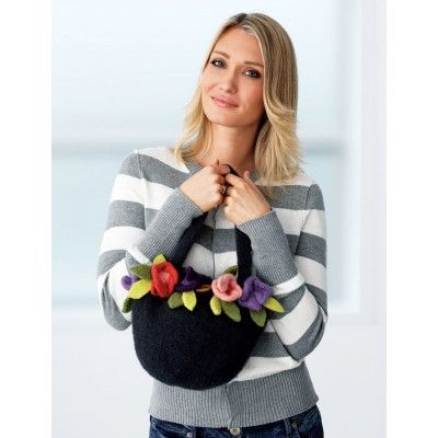 Felted Posy Bag Knitting Pinterest Felting Knit Patterns And