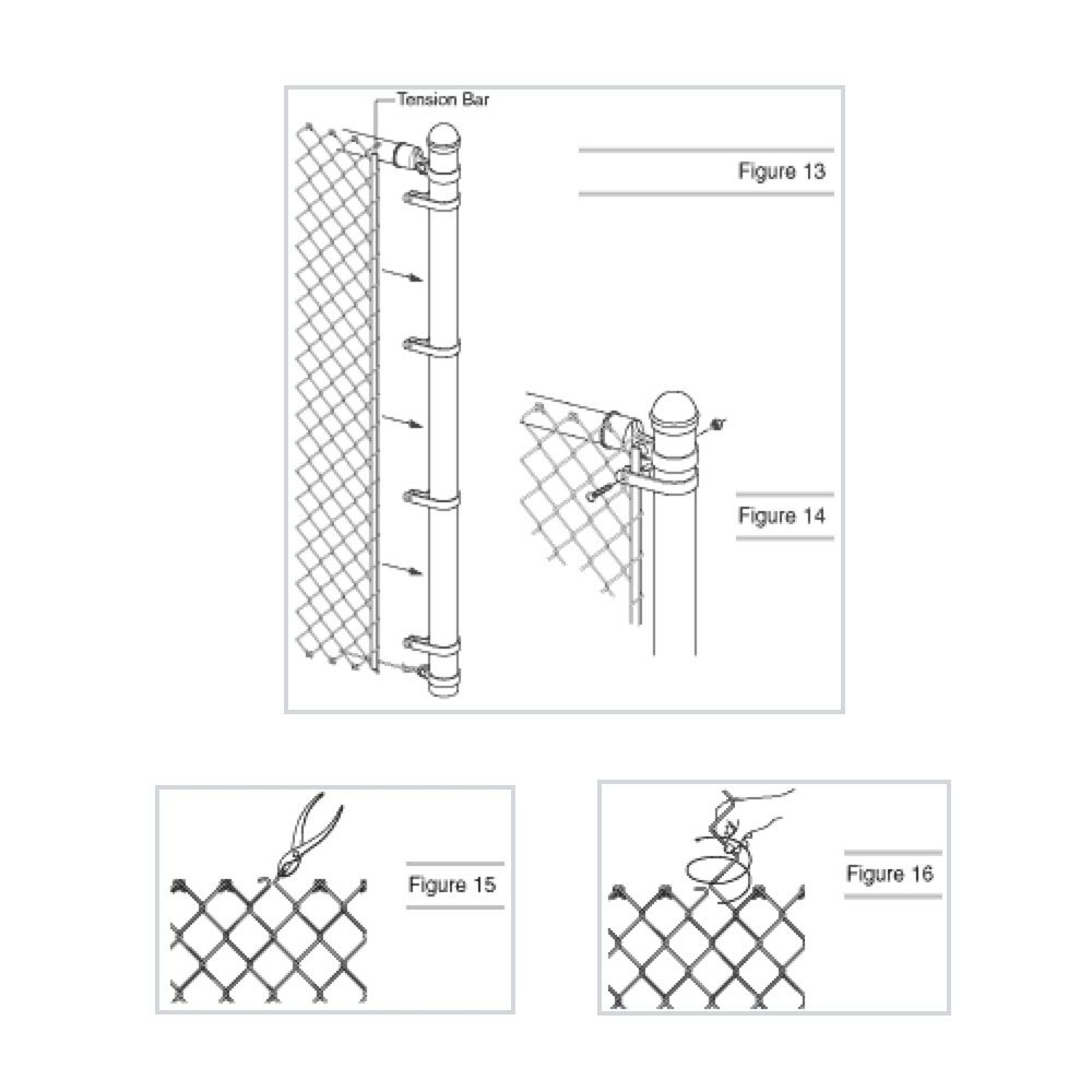 how to cut chain link fence post