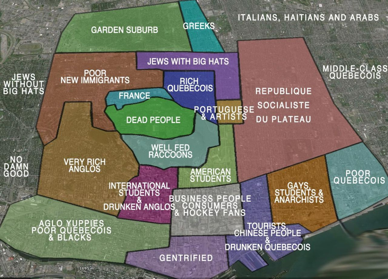 Downtown Montreal StereotypesMore stereotype maps hri Pinterest