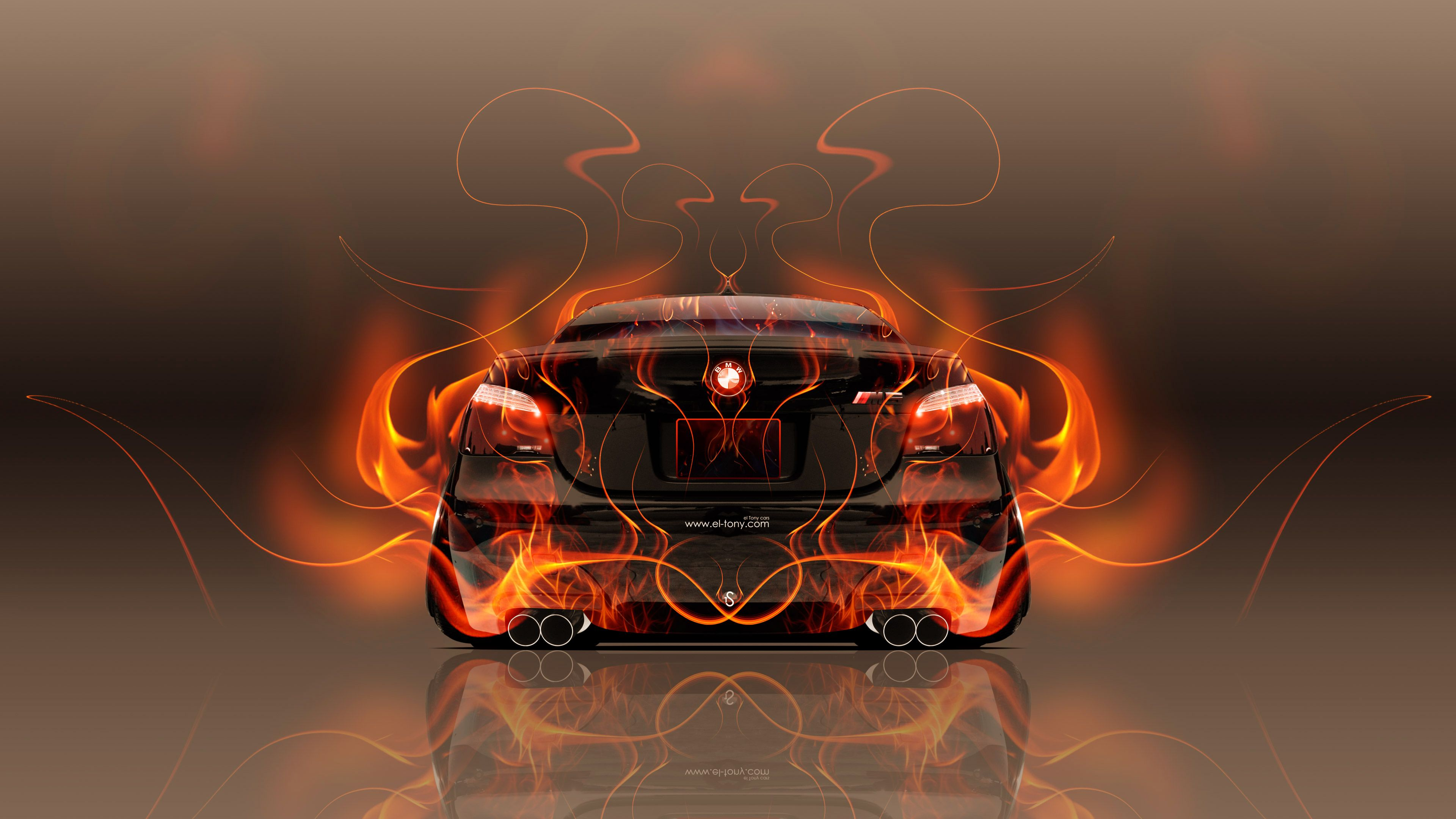 BMW M5 E60 Back Fire Abstract Car 2015