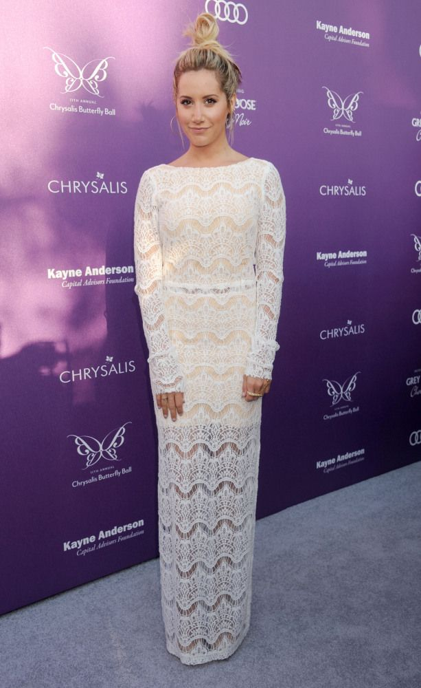 Ashley Tisdale   Stunning dresses, Lace white dress ...