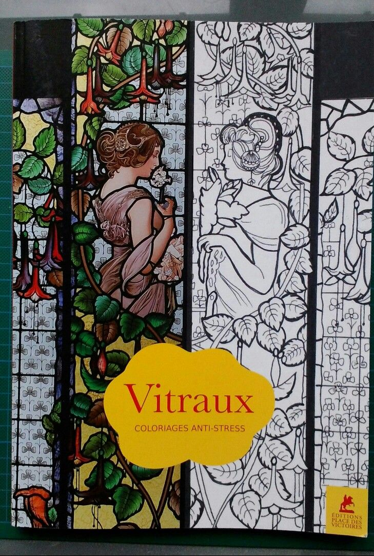 Stained Glass Coloringbook France