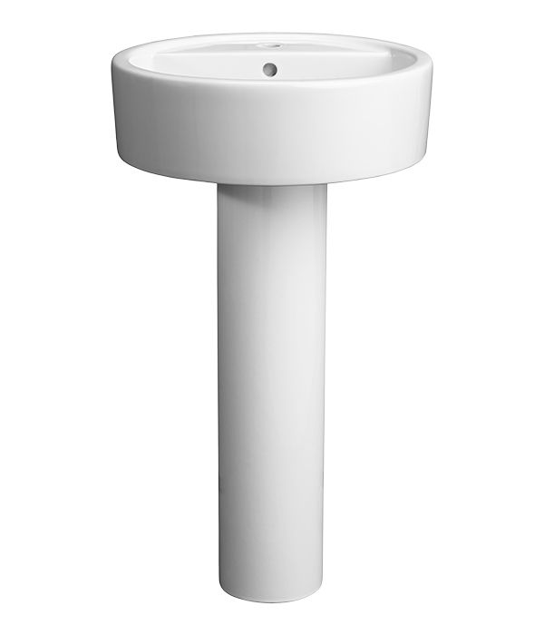 The Seagram 20 Round Pedestal Lavatory From Dxv Is A Luxurious