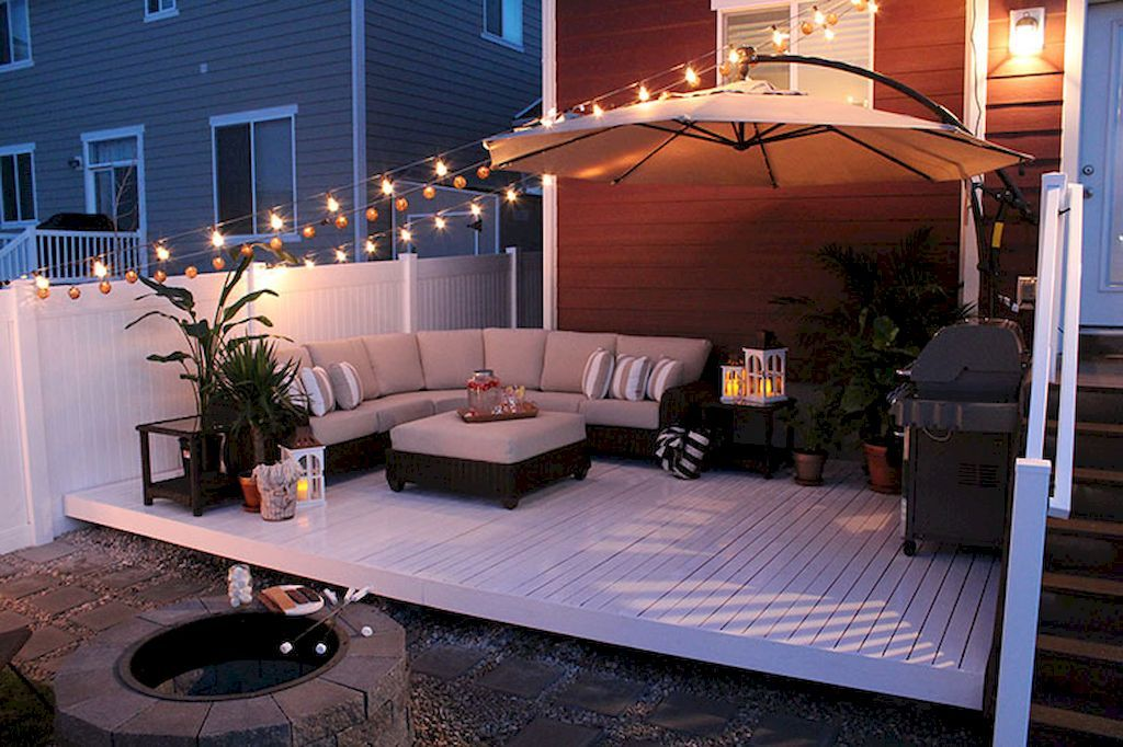 Cool 35 Cozy Backyard Patio Deck Designs Ideas For