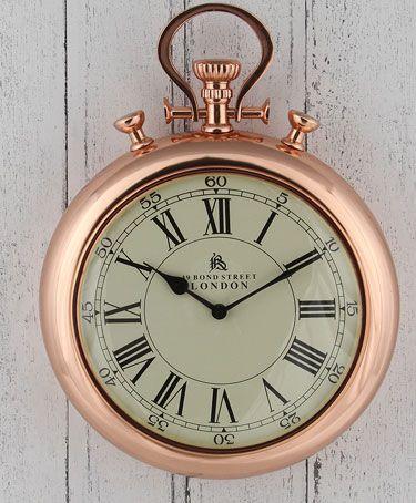 Patinated copper Copper rectangular wall clock Wall clock rectangle shape functional wall decor decorative wall clock