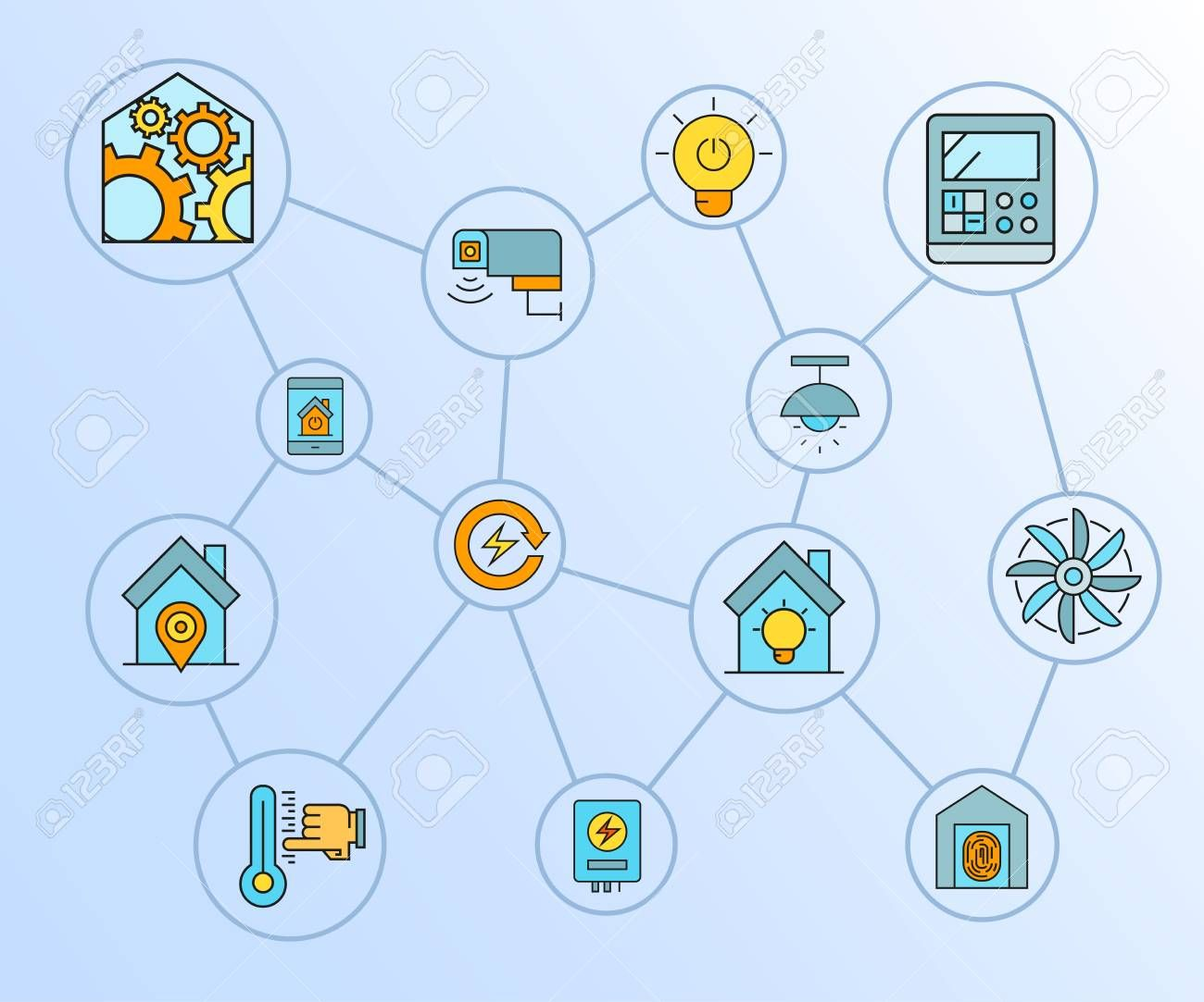 smart home, home automation and home appliance concept network , #Aff, #automation, #home, #smart, #network, #concept