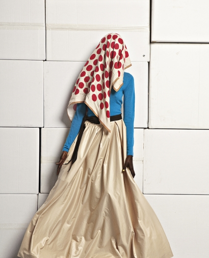 Kinee Diouf for Rue Blanche Winter 2011/2012