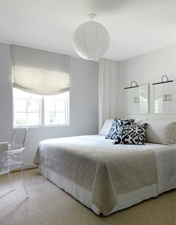 white and airy bedroom