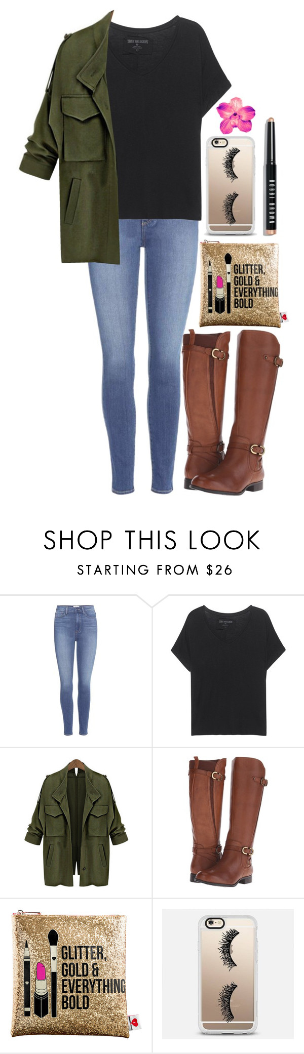 """""""In School &&; OOTD"""" by forevercrazyfashiondivas ❤ liked on Polyvore featuring Paige Denim, True Religion, Naturalizer, Sephora Collection, Casetify, Bobbi Brown Cosmetics and chloerememberthis"""
