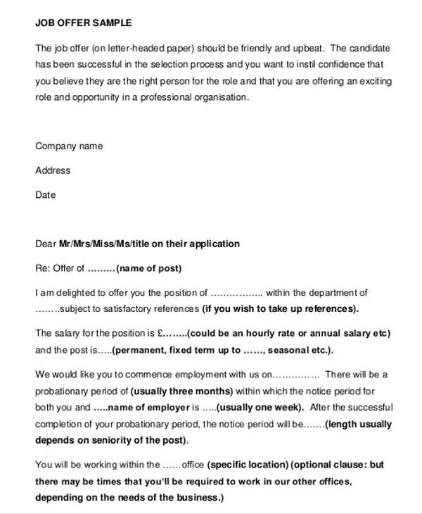 Business Offer Letter Template - 7+ Free Word, PDF Format Download