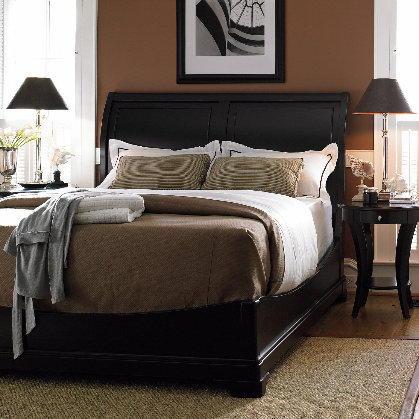 Stanley Furniture 2 Piece Louis Louis Low Profile Sleigh Bed
