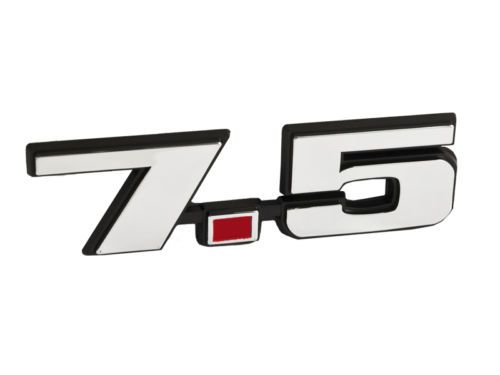 75 liter 460 ford truck mustang emblem black w chrome trim red ford mustang f250 f350 7 5 liter emblem fandeluxe Choice Image