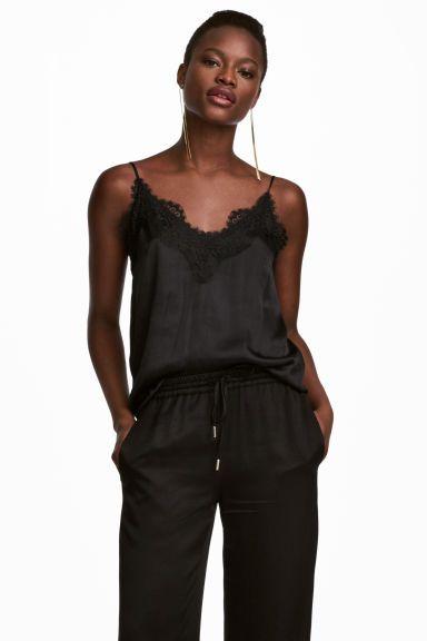 36d150df3b995 Атласная майка с кружевом Модель | Style | Одежда, Кружево и Модели