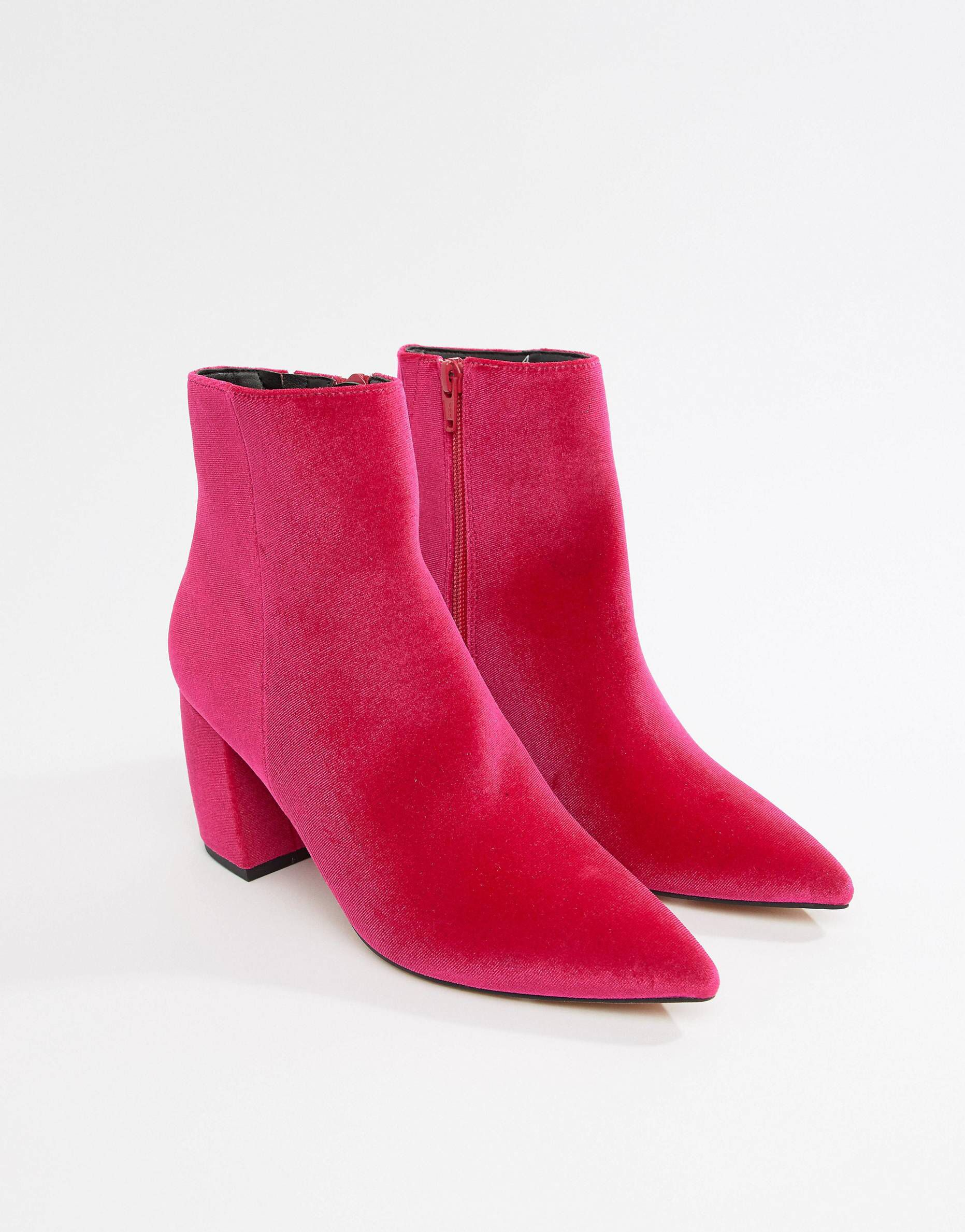 Just When I Thought I Didn T Need Something New From Asos I Kinda Do Velvet Ankle Boots Kitten Heel Ankle Boots Buckle Ankle Boots