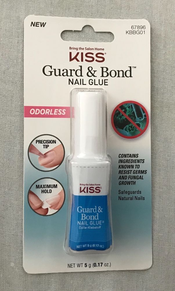 KISS GUARD & BOND NAIL GLUE 0.17 Ounce ODORLESS~Free Shipping ...