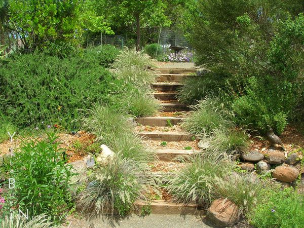 Garden Design On A Slope meet me at the top | railroad ties, gardens and backyard