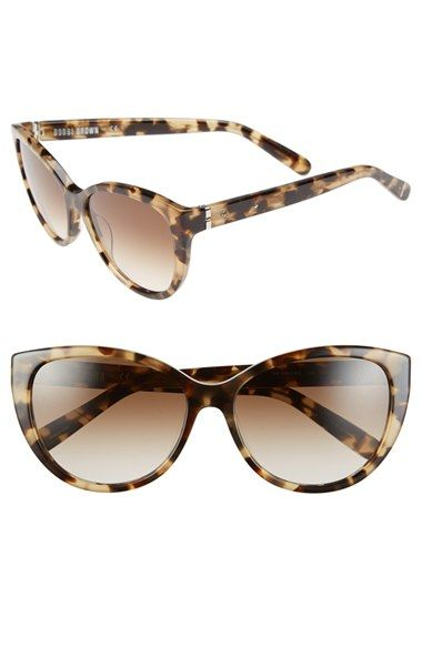 792cda2a5e2b Bobbi Brown 'The Marylins' 56mm Cat Eye Sunglasses available at #Nordstrom.  I like the matte rose color. Plastic. Come with a zip top pouch and mirror.